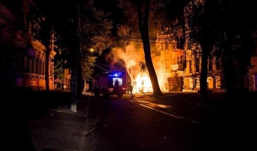ВДнепре произошел пожар впиццерии, где работают ветераны АТО